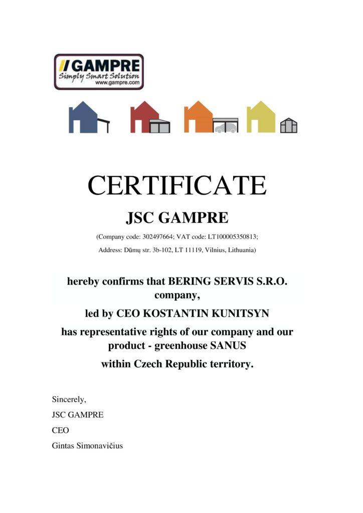 Certifikace GAMPRE